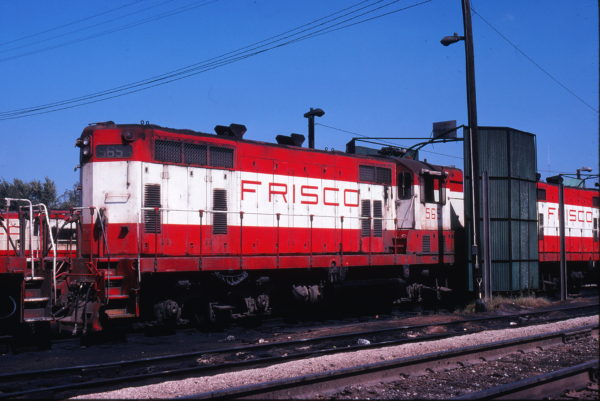 GP7 565 at Springfield, Missouri in September 1978