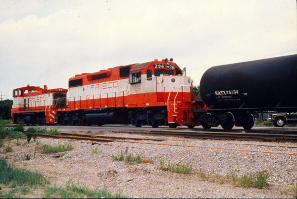 SD38-2 296 and SW1500 357 (date and location unknown) (Trackside Slides).