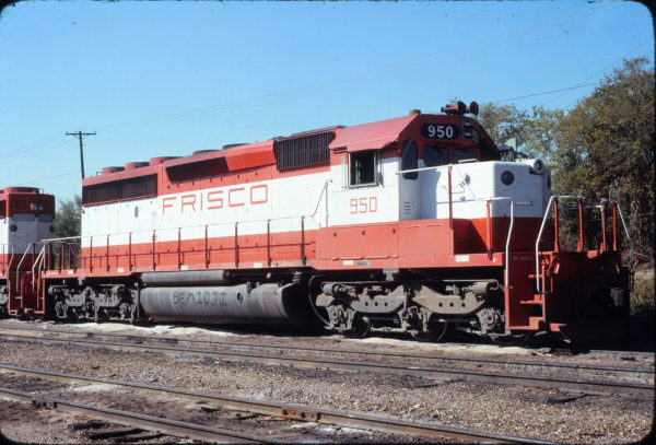SD40-2 950 at Irving, Texas in November 1978