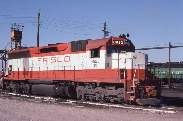 SD45 6650 ex-SLSF 900 at Chicago, Illinois on December 20, 1980 (Tony Vanier)