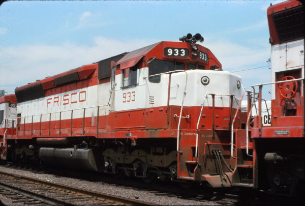 SD45 933 at Cheyenne, Wyoming in September 1975