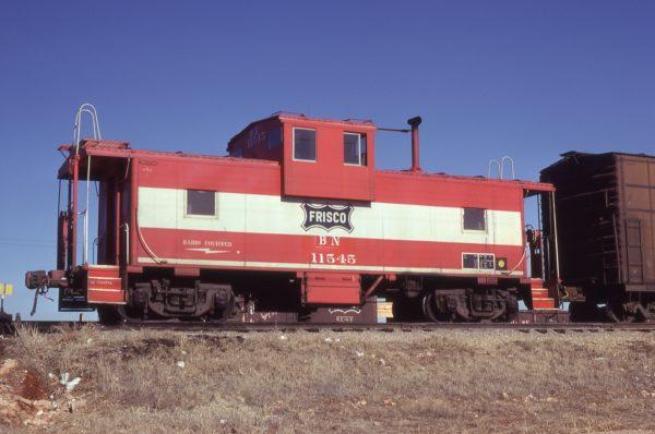 Caboose 11545 (Frisco 1216) at Springfield, Missouri on January 17, 1981 (JC Benson)