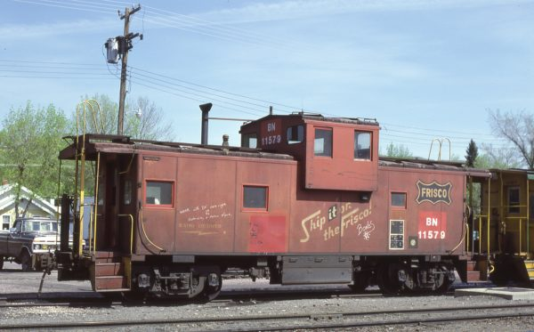 Caboose 11579 (Frisco 1251) at Livingston, Montana on May 30, 1981 (DL Zeutschel)
