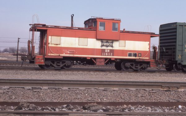 Caboose 11612 (Frisco 1284) at Aurora, Illinois on February 25, 1987 (DR Halfield)