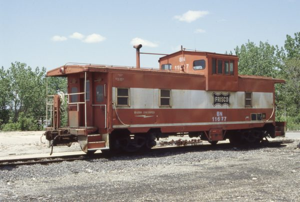 Caboose 11677 (Frisco 1702) at Cicero, Illinois in May 1983