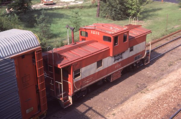 Caboose 1231 at Kirkwood, Missouri on August 31, 1980
