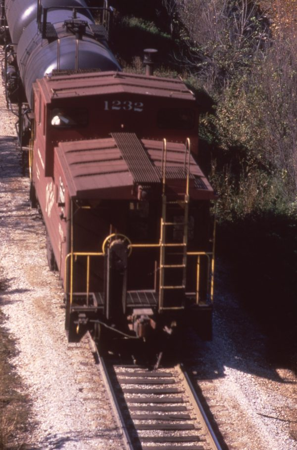 Caboose 1232 at Jerome, Missouri in September 1970