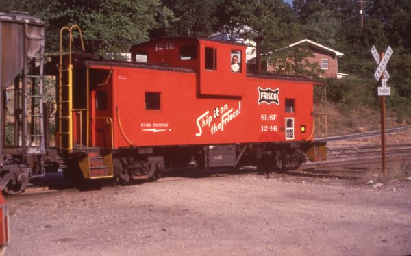 Caboose 1246 at Winslow, Arkansas in August 1980