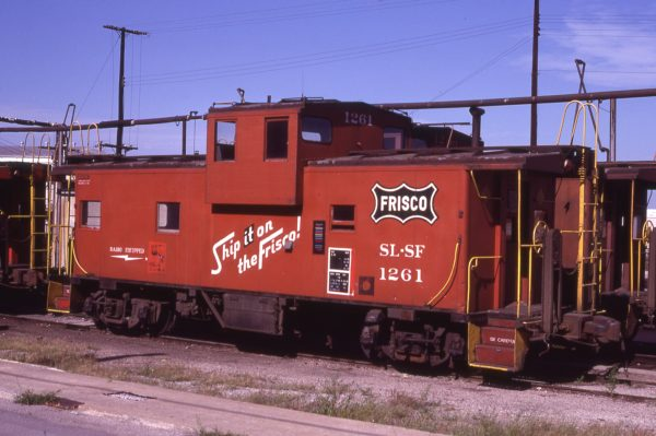 Caboose 1261 at Kansas City, Missouri on August 20, 1980 (JC Benson)