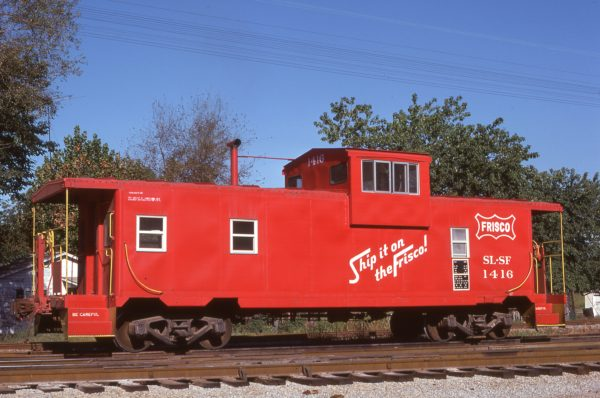 Caboose 1416 at Hayti, Missouri on September 11, 1976 (Bill Folsom)
