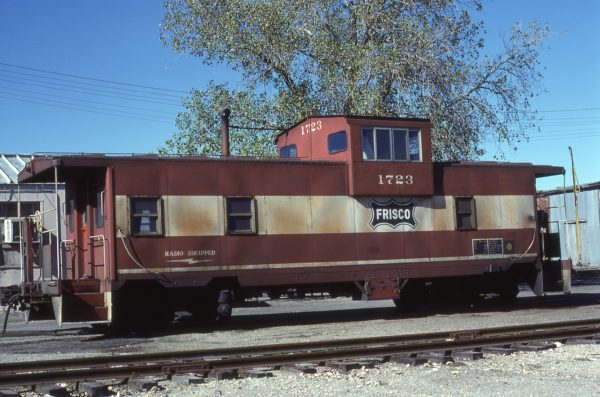 Caboose 1723 at Fort Worth, Texas on November 30, 1980