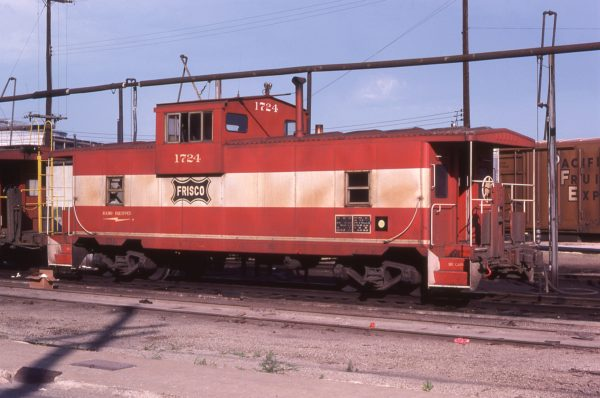 Caboose 1724 at Kansas City, Missouri in July 1978