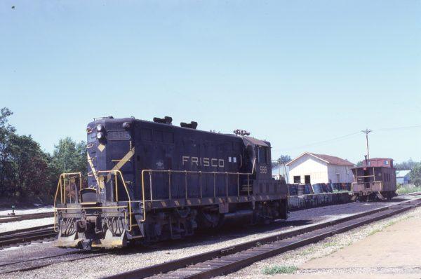GP7 588 at Cuba, Missouri in July 1973 (Jim Springer)