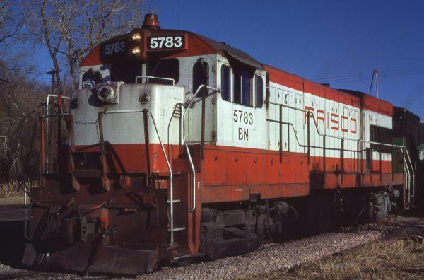 U30B 5783 (Frisco 845) at Omaha, Nebraska on February 18, 1981 (Jerry Bosanek)