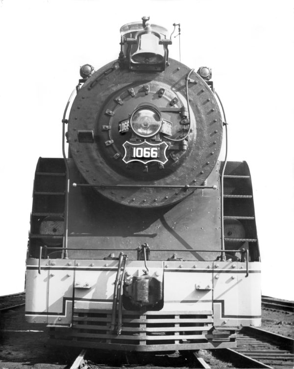 4-6-4 1066 at Lindenwood Yard in St. Louis, Missouri in 1937