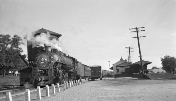 4-8-2 4404 at Neosho, Missouri on Train #3 on August 3, 1949 (14 cars)