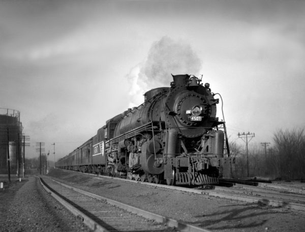 4-8-4 4507 at Southeastern Junction on March 1, 1946