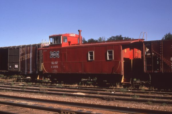 Caboose 1105 at Monett, Missouri on August 23, 1970