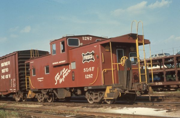 Caboose 1287 at Sherman, Texas in May 1970