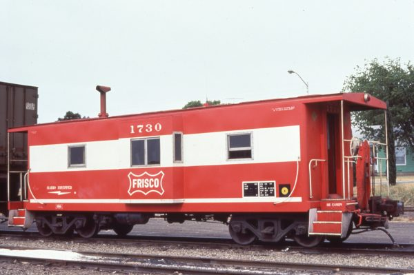 Caboose 1730 at Fort Worth, Texas on August 17, 1980