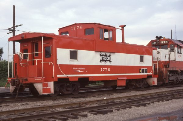 Caboose 1776 and SD45 935 at Kansas City, Missouri on July 7, 1979 (K.L. White)