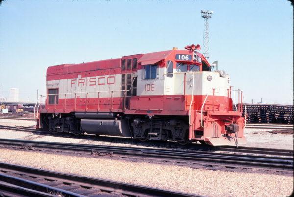 GP15-1 106 at Tulsa, Oklahoma in March 1978 (John Nixon)
