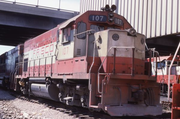 GP15-1 107 at Springfield, Missouri on August 25, 1979
