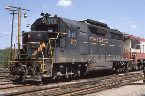 GP35 709 at St. Louis, Missouri on May 7, 1968