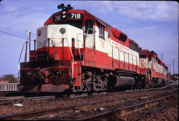 GP35 718 on Seaboard Coast Line freight #289 at Raleigh, North Carolina in October 1973