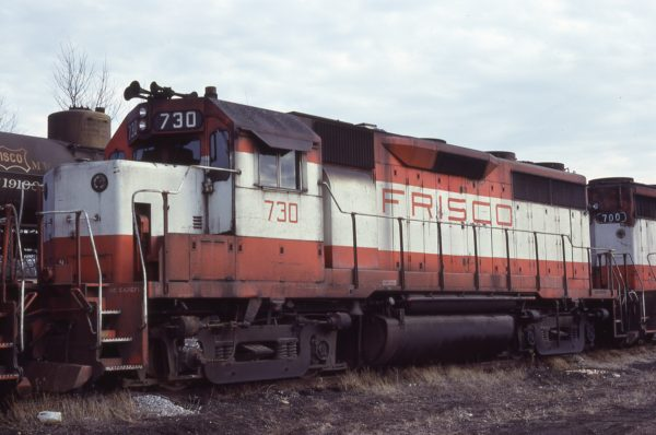 GP35 730 at Springfield, Missouri on December 27, 1979