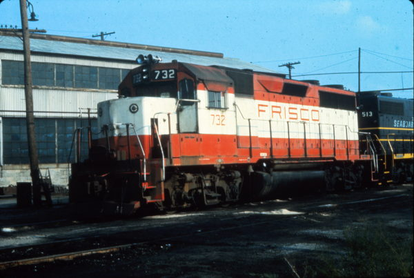 GP35 732 at Portsmouth, Virginia in July 1977 (Vernon Ryder)