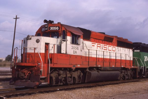 GP40-2 3056 (Frisco 766) at Tulsa, Oklahoma on October 4, 1981 (R. Bee)