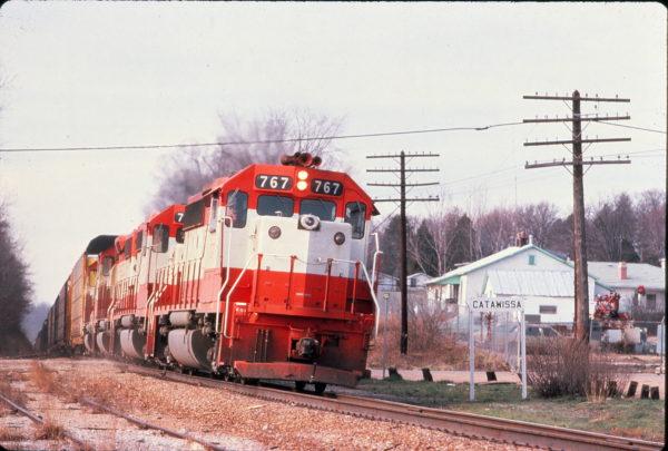 GP40-2 767 at Catawissa, Missouri (date unknown)