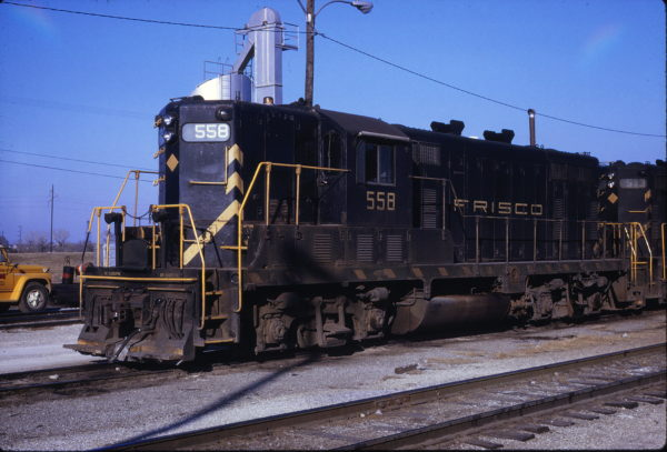 GP7 558 at Oklahoma City, Oklahoma in February 1969