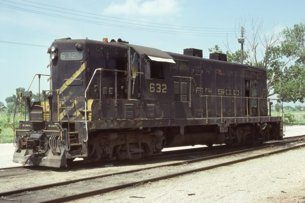 GP7 632 at Joplin, Missouri in June 1978 (Dave Cash)