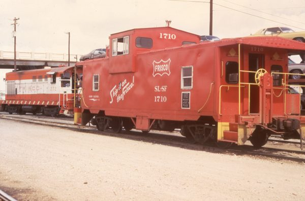 H-10-44 272 and Caboose 1710 at Oklahoma City, Oklahoma on June 9, 1973