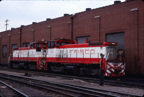 SW1500s 321 and 332 at St. Louis, Missouri in April 1978