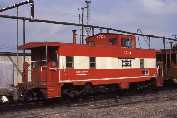 Caboose 1724 at Kansas City, Missouri on October 25, 1976 (Jim Wilson)