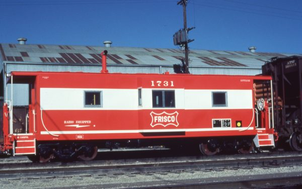Caboose 1731 at Springfield, Missouri in December 1979
