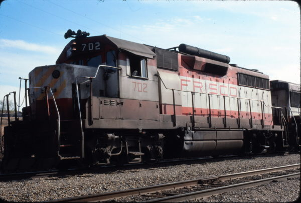 GP35 702 at Carrollton, Texas in March 1977