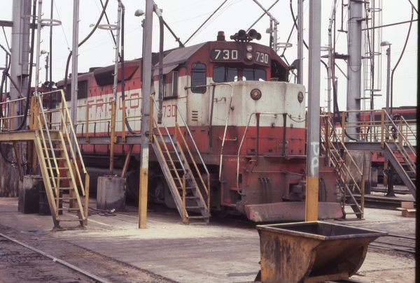 GP35 730 (location unknown) in June 1977