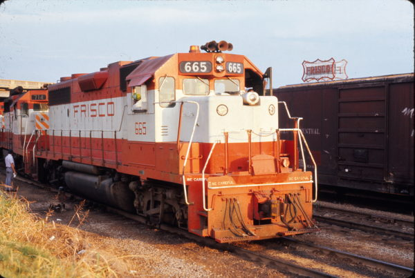 GP38-2 665 at Memphis, Tennessee in July 1973 (F. Czubryt)