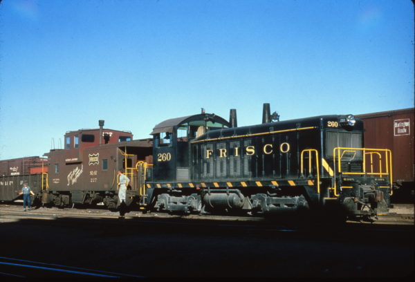NW2 260 and Caboose 227 switching at St. Louis, Missouri on October 3, 1964 (Al Chione)