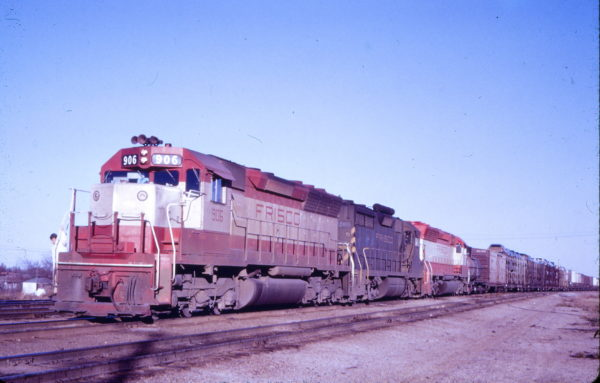 SD45 906 at Springfield, Missouri (date unknown) (Mac Owen - Blackhawk Films)