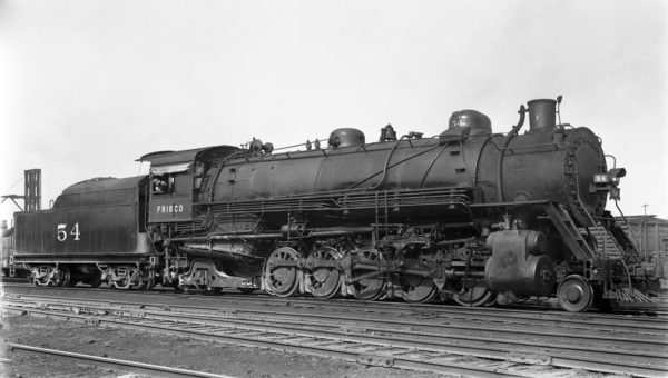 2-10-2 54 at Lindenwood Yard, St. Louis, Missouri in the 1930s (R.J. Foster)