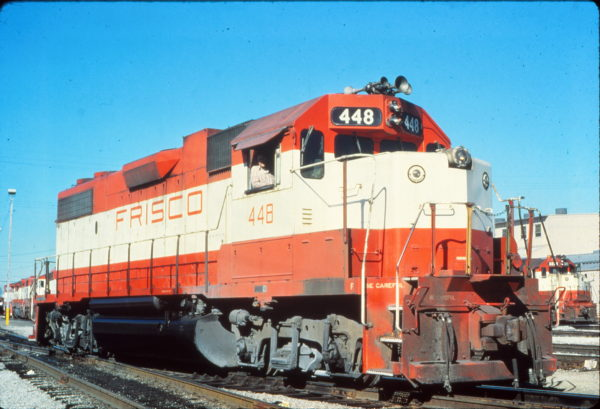 GP38-2 448 at Springfield, Missouri in June 1978 (Vernon Ryder)
