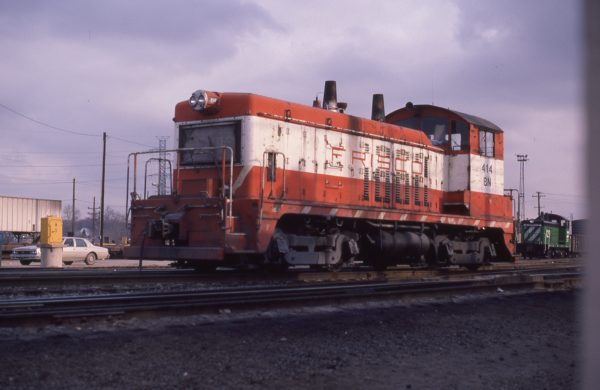 NW2 414 (Frisco 254) at St. Louis, Missouri on February 25, 1982 (P.B. Wendt)