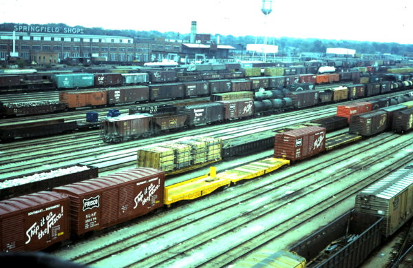 Springfield West Yard (taken from yard tower circa 1967-68)