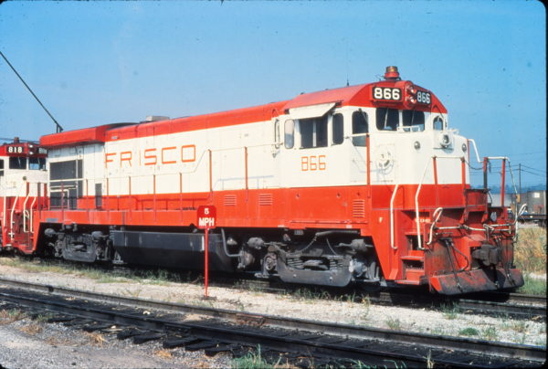 B30-7 866 at St. Louis, Missouri in September 1980 (Vernon Ryder)