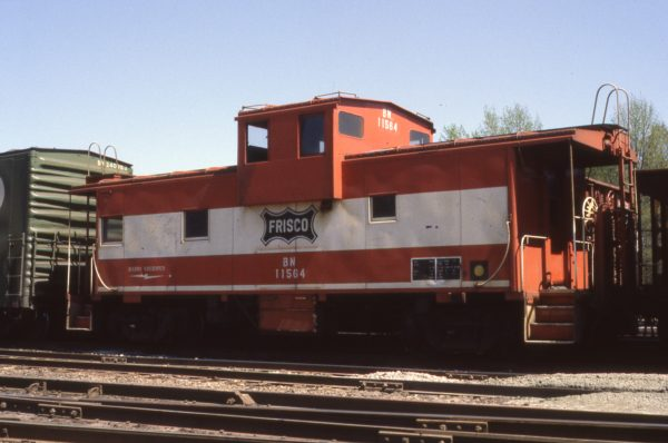 Caboose 11564 (Frisco 1236) at Amory, Mississippi on April 4, 1981